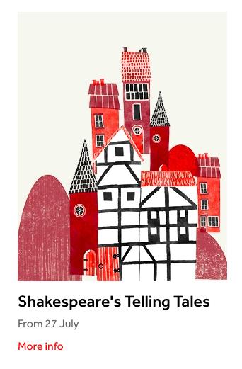 Shakespeare's Telling Tales festival artwork
