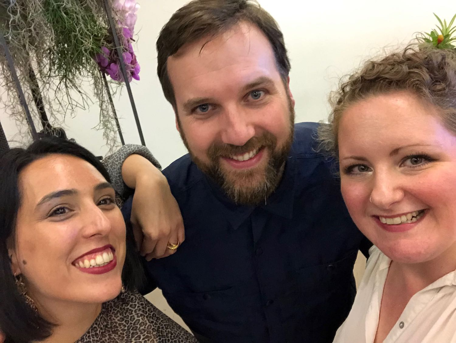 Elisa (Head of Project Delivery), Ian (Senior Designer & Front-end Developer) and Emily (Head of Client Services)